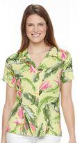 Caribbean Joe Women's Button Front Camp Shirt