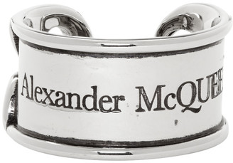 Alexander McQueen Silver Safety Pin Ring