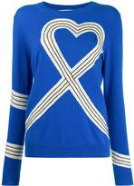 Chinti and Parker heart-motif knitted jumper