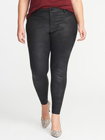 Old Navy Smooth & Slim Plus-Size Coated Rockstar Jeans