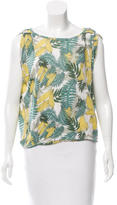 Maje Linen Printed Top