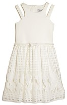 Us Angels Girls' Lace Skirt Dress - Big Kid