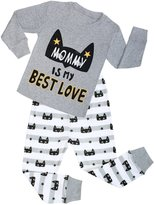BeautyIn Boys Pajamas Is My Bes Love Cotton Toddler Pjs Kids Sleepwear