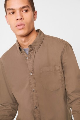 French Connenction Garment Dyed Poplin Shirt