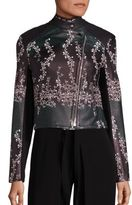 Yigal Azrouel Trellis Printed Leather Jacket