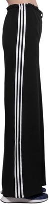 adidas High Waist Cotton & Jersey Trousers
