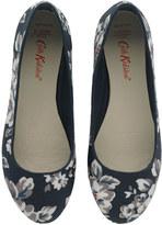 Cath Kidston Elvington Rose Embossed Ballerina Shoes