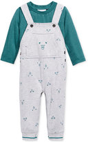 First Impressions Baby Boys' 2-Pc. T-Shirt & Bear-Print Overall Set, Only at Macy's