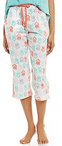 Sleep Sense Tulip-Print Jersey Capri Sleep Pants