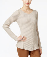 Style&Co. Style & Co. Ribbed Crew-Neck Sweater, Only at Macy's
