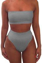 Pink Queen Women's Removing Strap Padded High Waist Bikini Set Swimsuit (XL, )