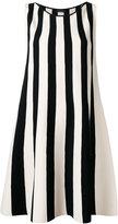 Roberto Collina striped flared dress - women - Polyester/Viscose - S