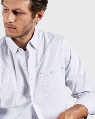 Ted Baker Cotton Stripe Geo Shirt