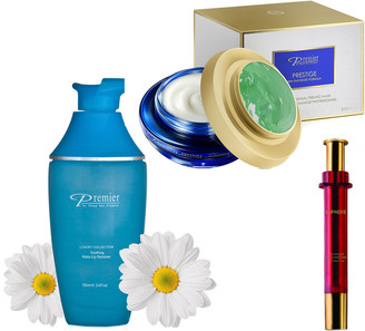 Premier Luxury Skin Care Premier Dead Sea Cosmetics Remove, Peel & Fill 3-Step Skin Firming & Lifting Treatment Set
