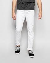 Jack and Jones Slim Fit White Jeans