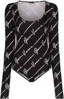 Versace signature-print bodysuit