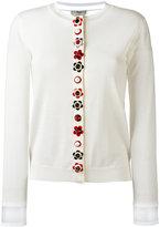 Fendi floral placket cardigan - women - Silk/Cashmere - 40