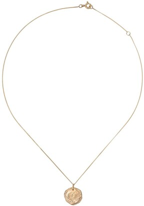 Pascale Monvoisin 9kt yellow gold diamond Initiale N5 necklace