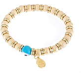 Blee Inara Stretchy Plated Circle Beads With Eye Bracelet