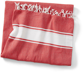 Turkish T Basic Coverlet - Red/White