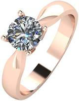 Moissanite 9ct Rose Gold 75 Point Solitaire Ring