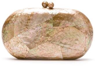 Serpui Marie Sophie brownlip clutch bag
