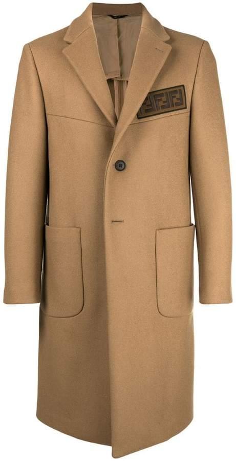 Fendi embellished single breasted coat