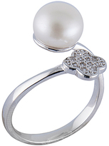 Bella Pearl Cultured Pearl & Cubic Zirconia Open Ring