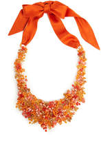 Josie Natori Beaded Bib Necklace Cayenne