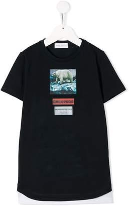Paolo Pecora Kids Polar bear print T-shirt