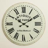 White Metal Addy Wall Clock