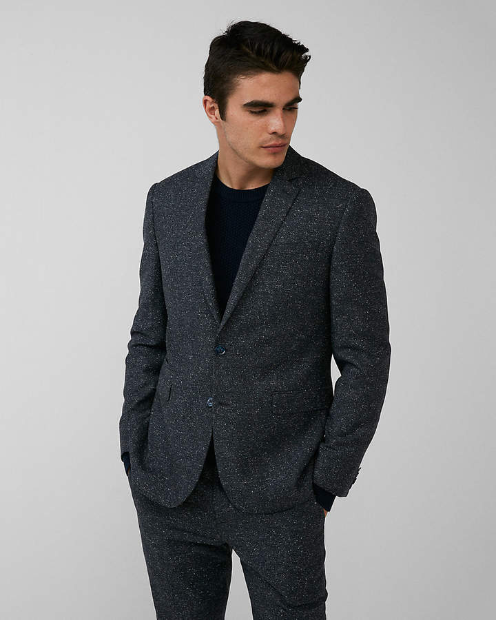 Express Slim Dark Charcoal Wool-Blend Suit Jacket