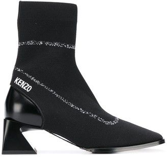 Kenzo Logo-Embroidered Sock Boots