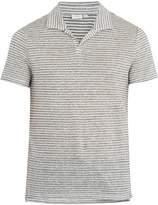 Onia Shaun linen and cotton-blend polo shirt