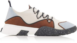 Bally Gady Leather-Trimmed Suede Sneakers