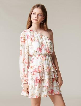Ever New Priya Ruffle One-Shoulder Mini Dress