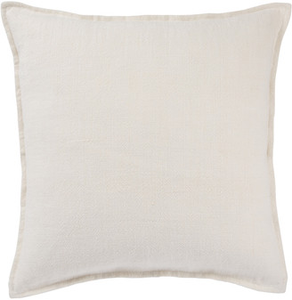 Jaipur Living Blanche Solid Ivory Throw Pillow
