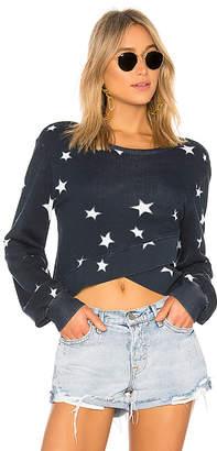 Pam & Gela Star Printed Cross Sweatshirt