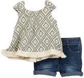 Jessica Simpson Top & Denim Set (Baby Girls)