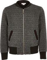 River Island Girls grey metallic bomber jacket