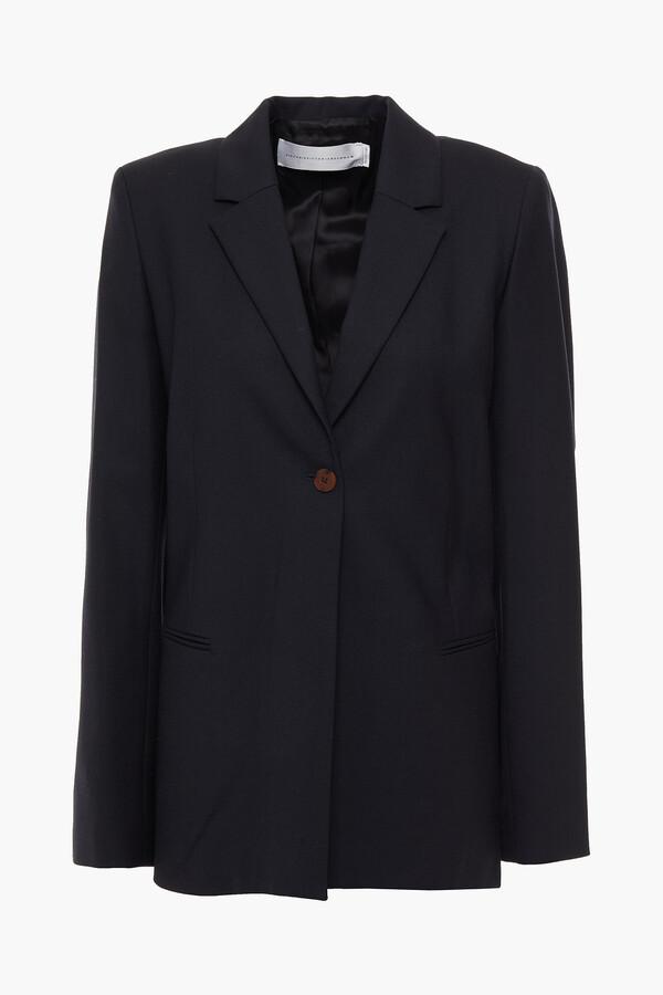 Victoria Victoria Beckham Tie-detailed Twill Blazer