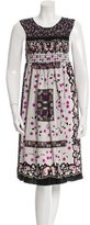 Anna Sui Floral Print Sleeveless Dress