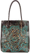 Patricia Nash Turquoise Tooled Cavo Medium Tote