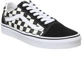 Vans Old Skool Trainers Black White Primary Check