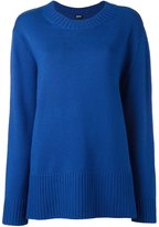 Jil Sander Navy long jumper - women - Wool - M