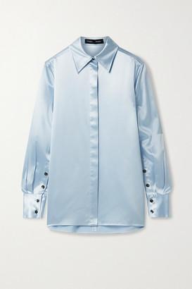 Proenza Schouler Silk-satin Shirt - Sky blue