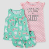 Just One You made by carter Toddler Girls' Three-Piece Pajama Set with Gown Green - Just One You Made by Carter's®