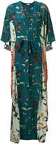 AILANTO floral kaftan dress