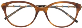 Gucci Bamboo Effect Round-Frame Sunglasses