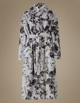 Marks and Spencer Shimmer Print Floral Dressing Gown